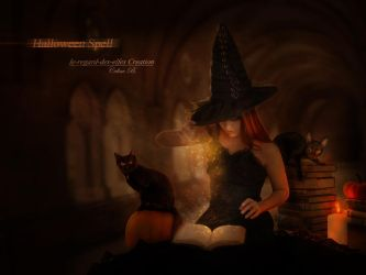 Halloween Spell by Le-Regard-des-Elfes