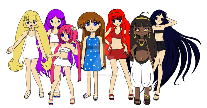 The Seven Island Girls by TheThunder-Art