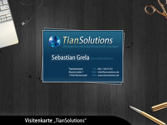 Visitenkarte 'TianSolutions' by no0bsteR