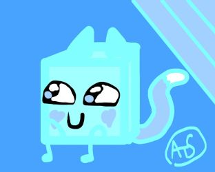 Ice Kitty Cube by PillowBFB