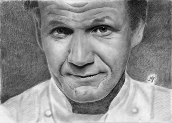 Gordon Ramsay portrait HQ by th3blackhalo