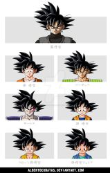 Goku characters hairstyle by albertocubatas