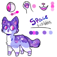 Space scribbles | Adoptable Closed! by Cheezeo