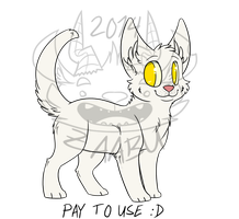 Pay to Use Kitten Lineart by Zaabu