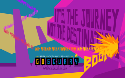 Goscurry - It's the Journey Wallpaper by izitmee