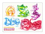 Colourful Critters by KatCardy