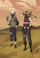 Asidou and Kakashi by Roggles