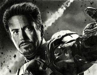 Iron Man (drawing) by shaynaJreddick