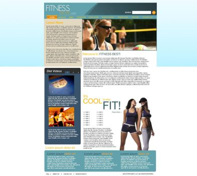 Fitness Website by sweetierika