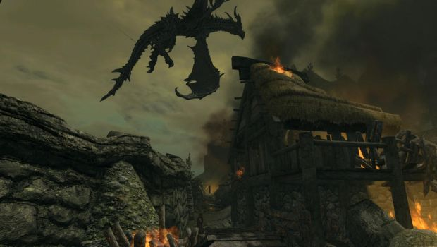 Alduin attacks Helgen 2 by 62guy