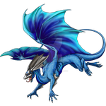Mirror dragon skin: One with the Waves (For sale) by LillyNightstar
