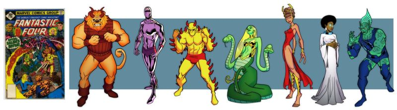 The Salem 7, from Fantastic 4 #186! by dusty-abell