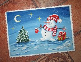 Card Snowman by Alena-48