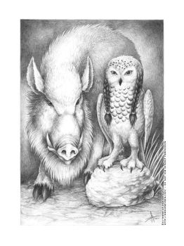 The Owl and the Boar by KytheraOA