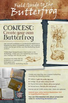 Poster: Creatre your Own Butetrfrog contest. by butterfrog