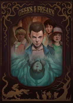 Geeks and Freaks (Stranger Things fan art) by Rudeone