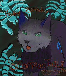 Happy Birthday ScorpionTail 2015**Speedpaint Up!** by WinterWings99