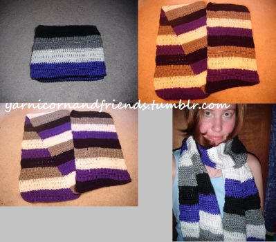 Asexuality flag Scarf by Ambrosial-Wolf