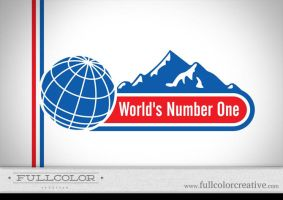 World's Number One Logo by FullcolorCreative