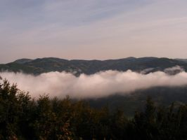 Mountain in the clouds 2 by Chichka