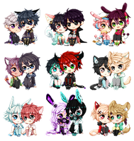 C:: Pixel Chibi Couples by bunnilu