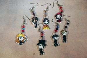Once Upon A Time Chibi Earrings by KouranKiyo