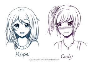 Sketch Commission: Hope and Cody by Lucina-Waterbell
