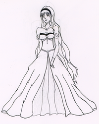 Young girl ready for the ball by Usagii
