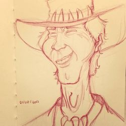 Crocodile Dundee - Caricature by assumpcao