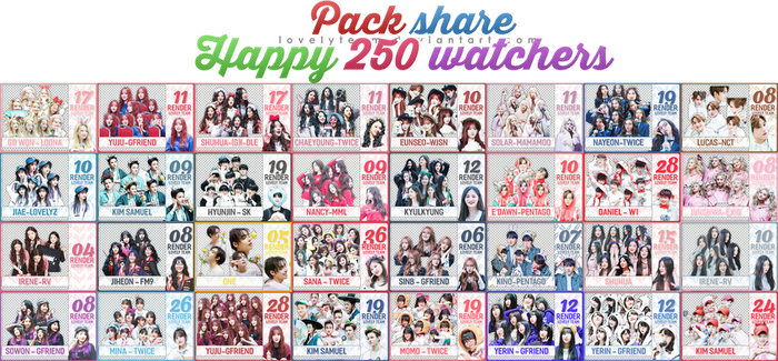 150518 :: PACK SHARE HAPPY 250 WATCHERS by Lovelyteam