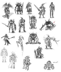 Character Concepts by Dhex