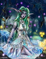 World of Warcraft Fanart: Tyrande Whisperwind by LadyLoth