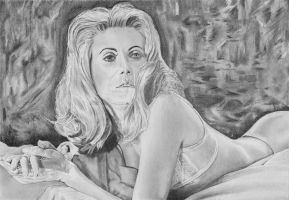 Belle de jour (Catherine Deneuve) by stevie-wydder