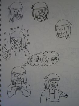 Star-Knights doodles-Lee Larson by scifiguy9000
