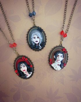 Vampire Portrait Cameo Collection by LittleBreeze