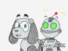 Laizar and Clank by OmegaLombax194