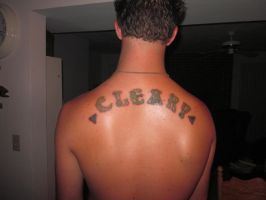Cleary lastname Back Tattoo by MarlonChavarria