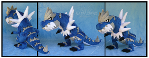 Shiny Tyrantrum Custom Plush