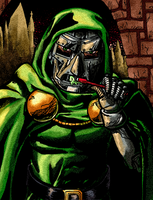 Dr. Doom Brushing Teeth by P5ych