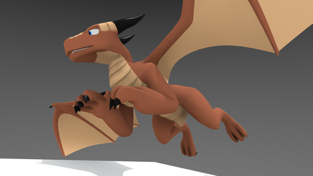 3D Dragon (with .blend DL link) by Nero1024