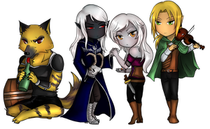 Chibi Lilith, Feyward, Loa, Fafnir by Lilith-the-5th