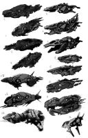 Space Ship Concepts by simmi