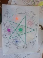 another pentagram pentacle by spiralcosmosart