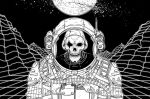 Skeleton Astronaut by MrChrizpy