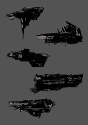 More spaceships concepts by MakowiecArt