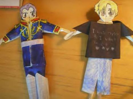 Ghiren and Ghinius dolls. by Androidraptor