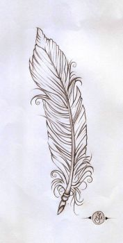 feather linework by verisa1978