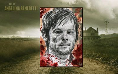 Daryl Dixon-Sketch Card by AngelinaBenedetti