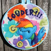 Rainbow Dash Embroidery Hoop by MelloReflections
