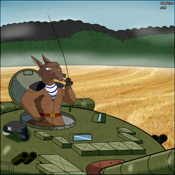 [Remastered] The soviet tank commander by WolleWolf95